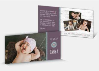 Dankeskarte Geburt Elisa