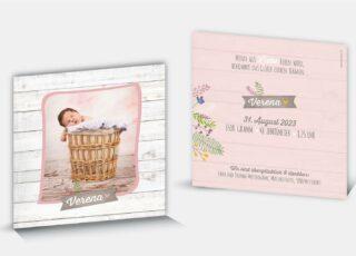 Geburtskarte Verena