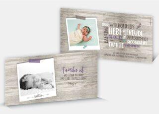 Geburtskarte Andrea