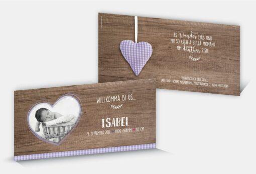 Geburtskarte Isabel