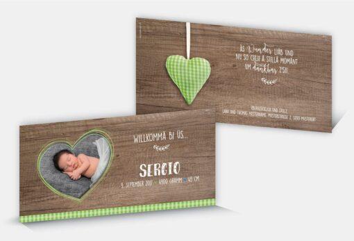 Geburtskarte Sergio