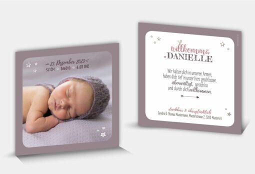 Geburtskarte Danielle