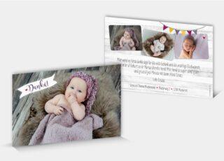 Dankeskarte Geburt Marisa