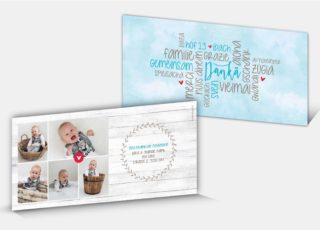 Geburtsdankeskarte Sven