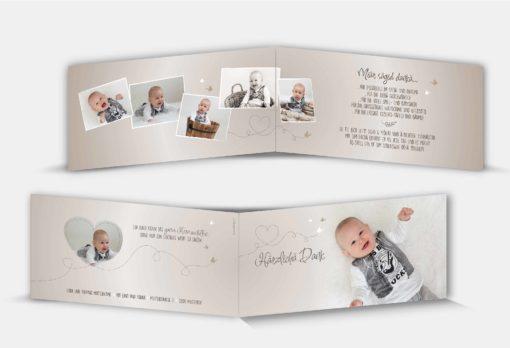 Dankeskarte Geburt Lino
