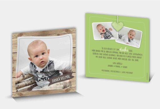 Geburtsdankeskarte Henry