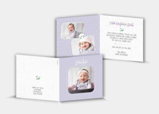 Geburtsdankeskarte Celia