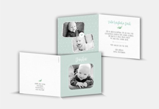 Geburtsdankeskarte Celio