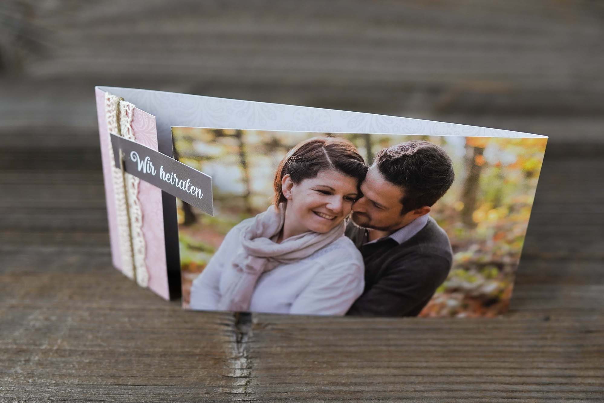 Hochzeitskarte Florian & Monika