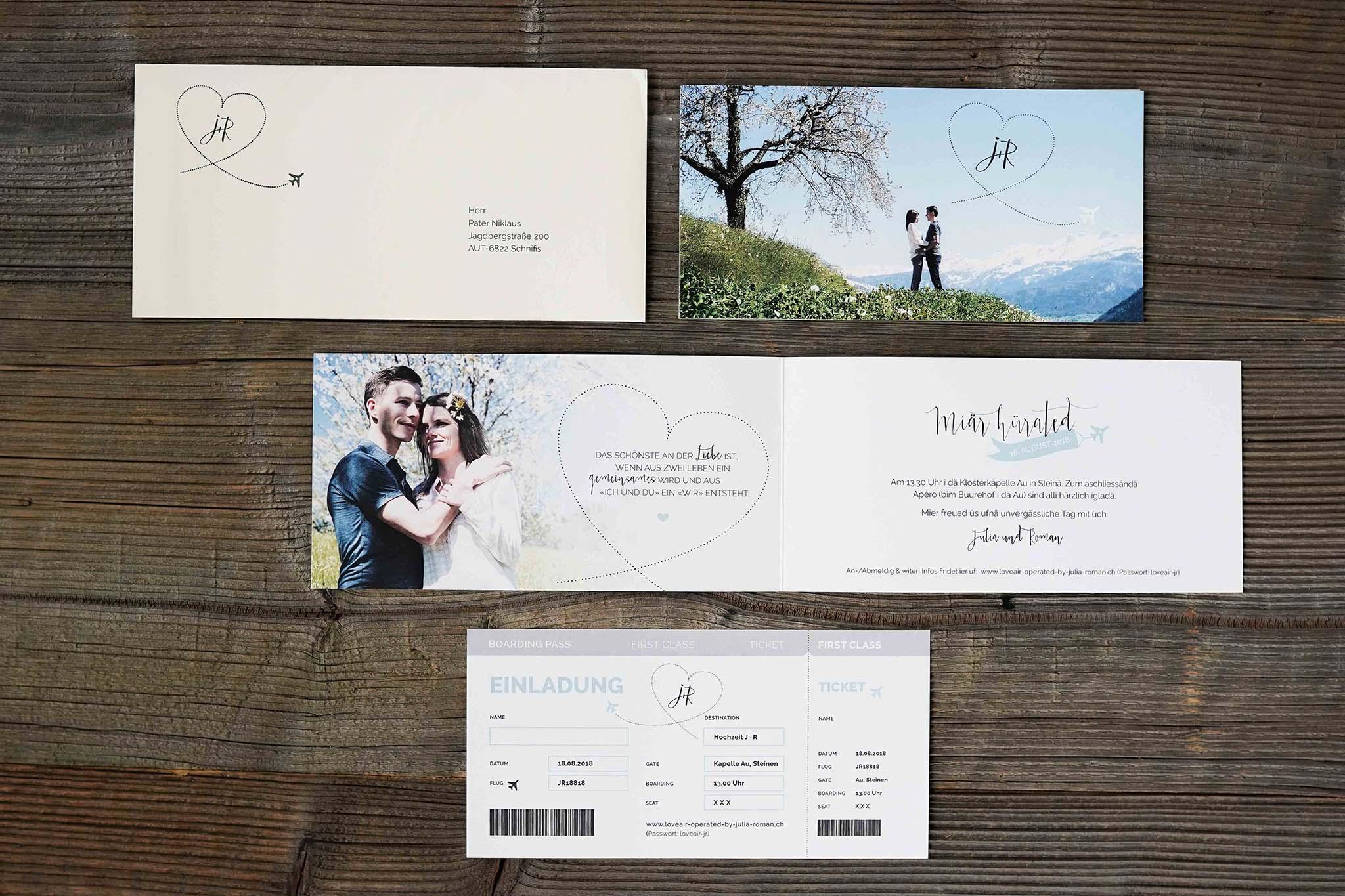 Hochzeitskarte Roman & Julia