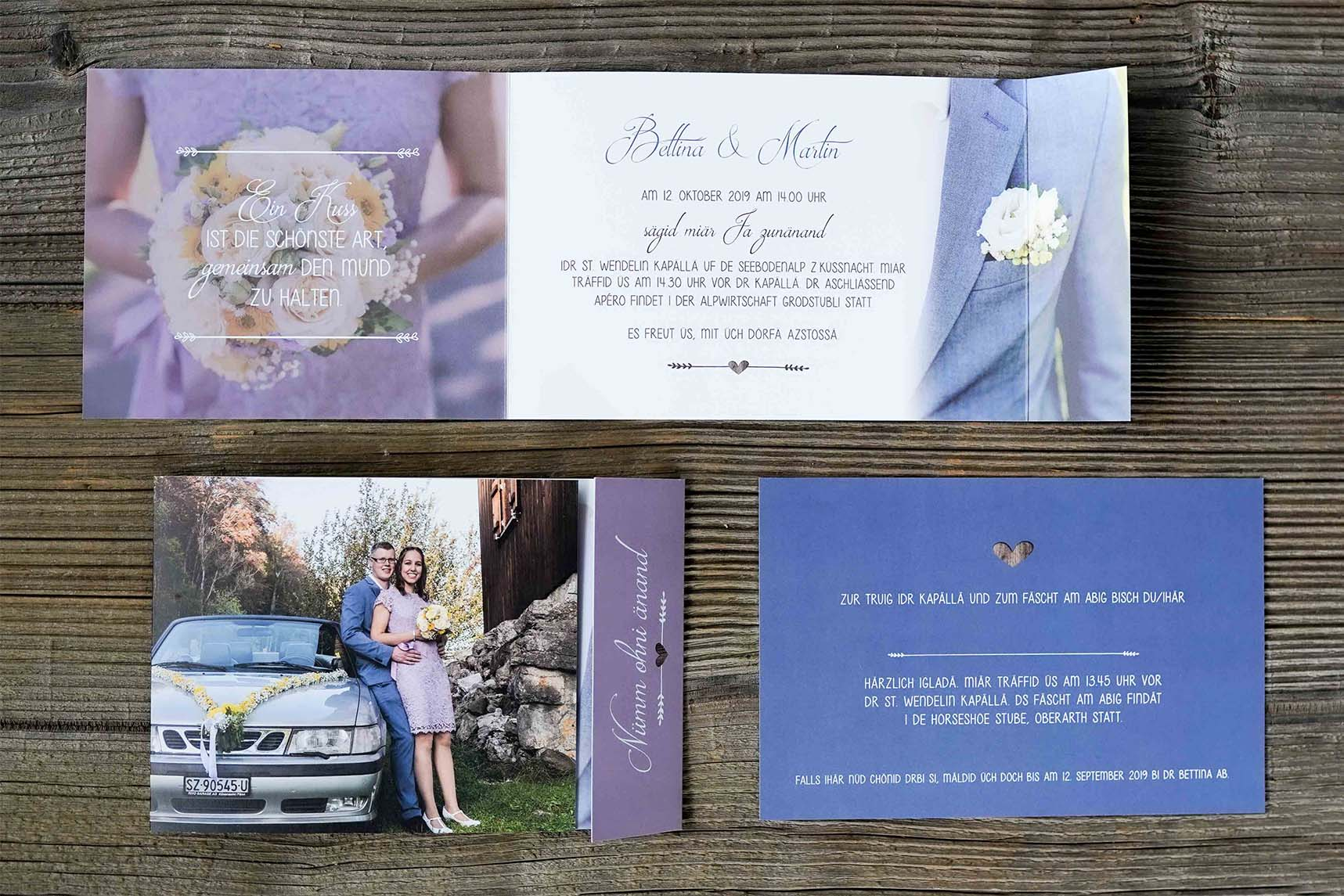 Hochzeitskarte Martin & Bettina