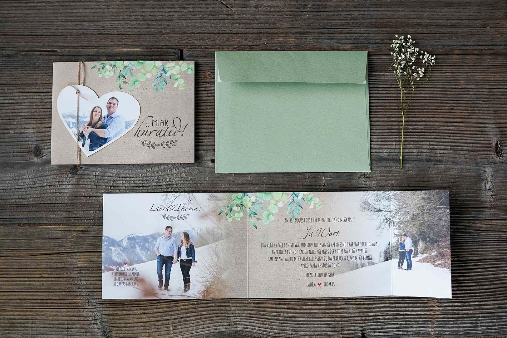 Hochzeitskarte Thomas & Laura