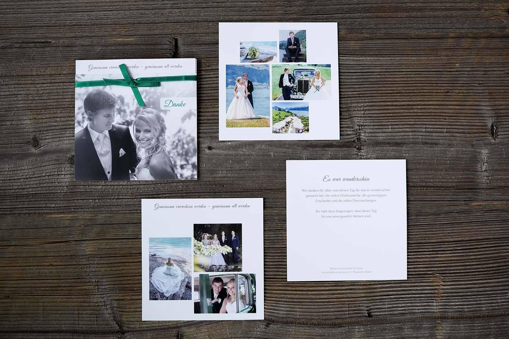 Hochzeitsdankeskarte René & Nicole