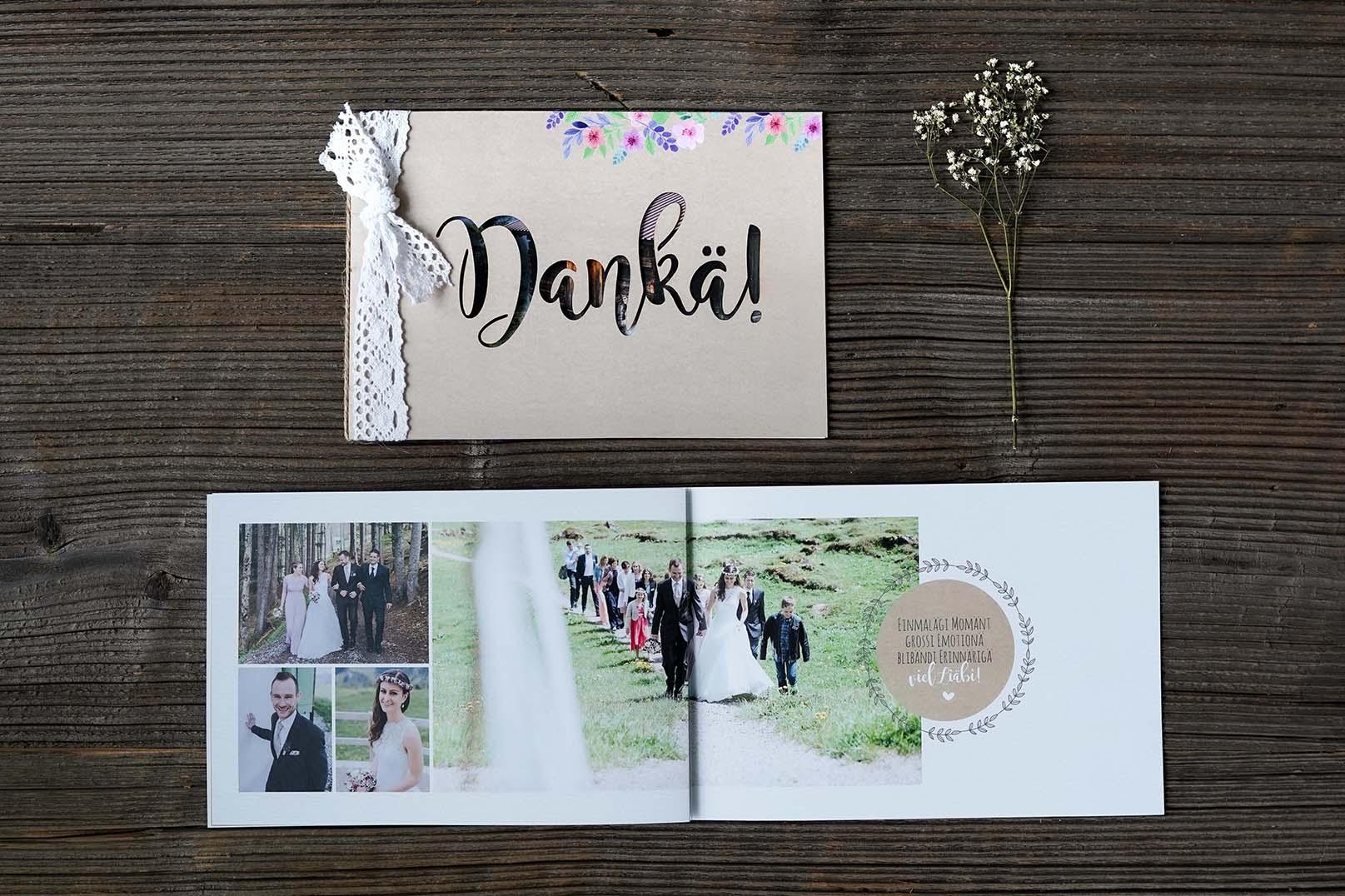 Hochzeitsdankeskarte Ueli & Angela