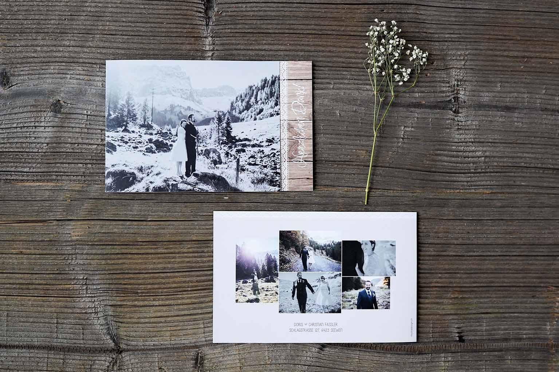 Hochzeitsdankeskarte Christian & Doris