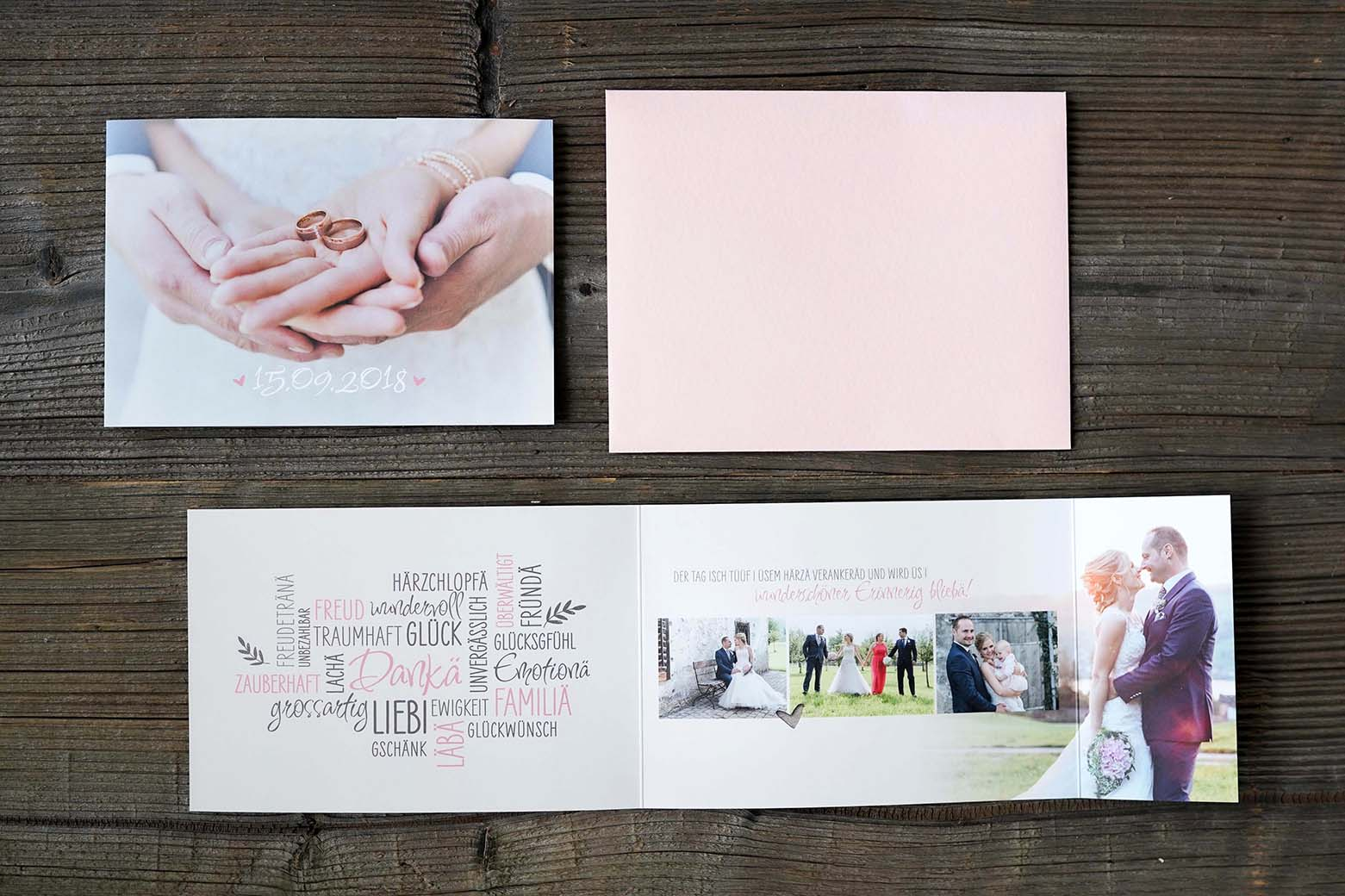 Hochzeitsdankeskarte