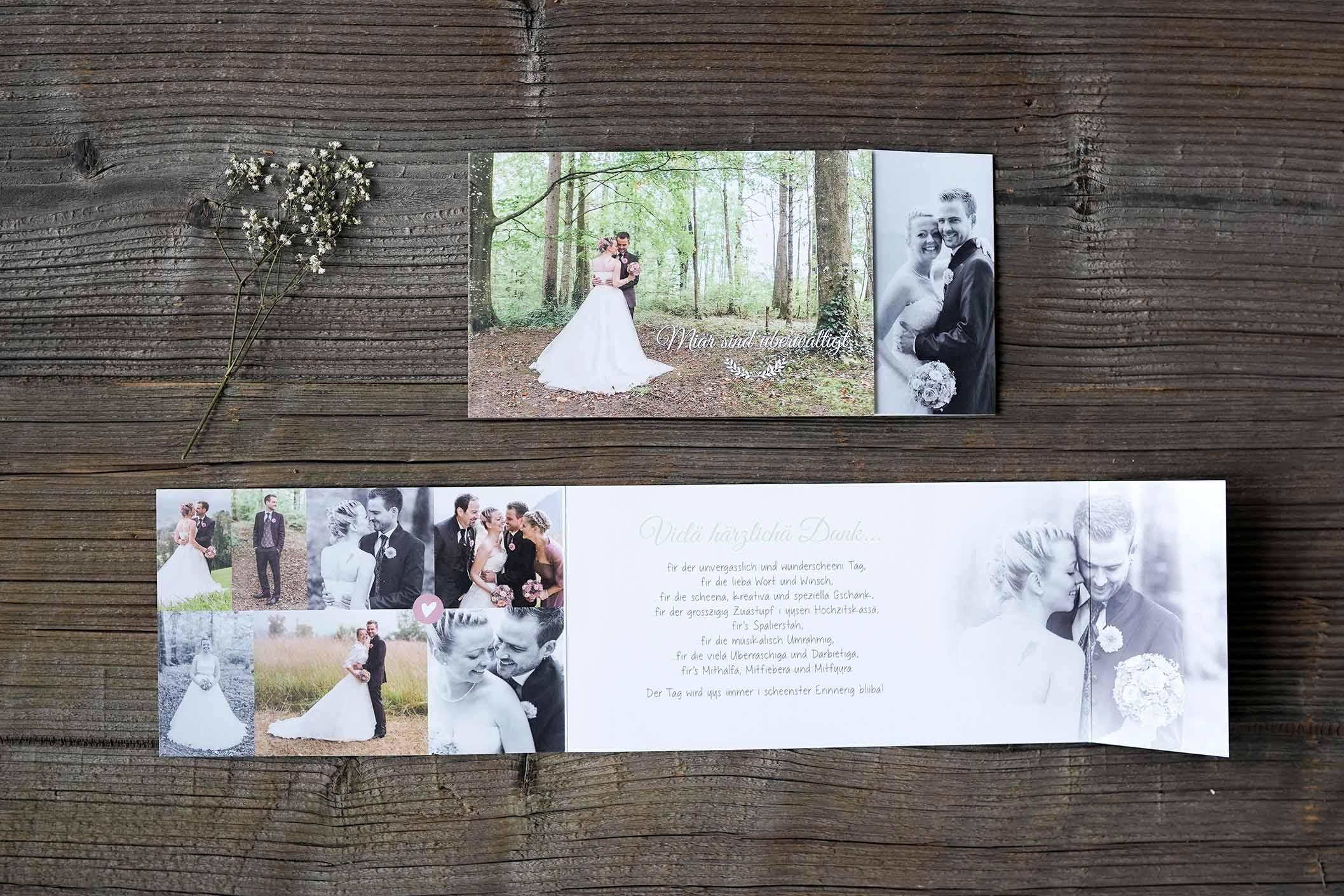 Hochzeitsdankeskarte Stadler
