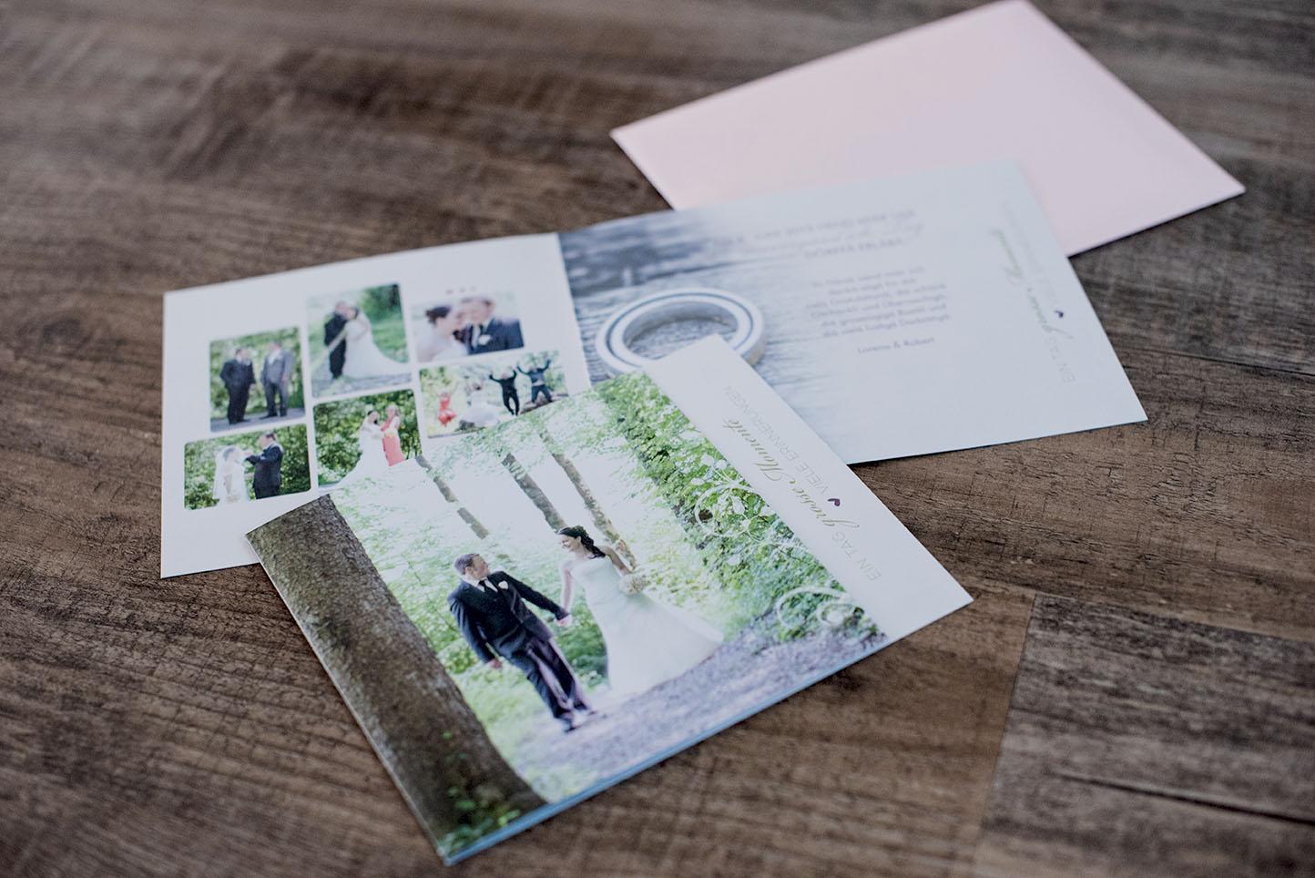 Hochzeitsdankeskarte Robert & Lorena