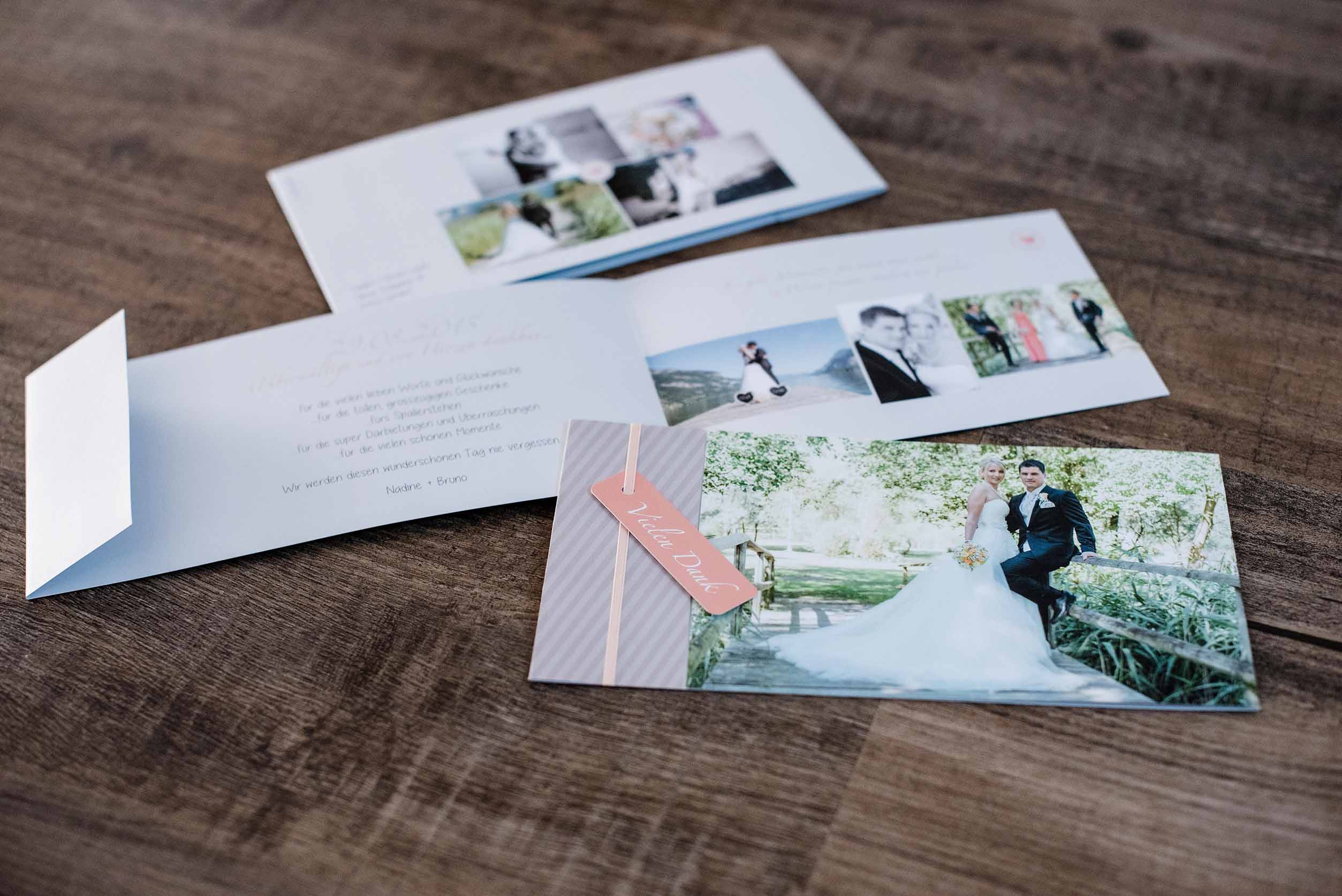 Hochzeitsdankeskarte Bruno & Nadine