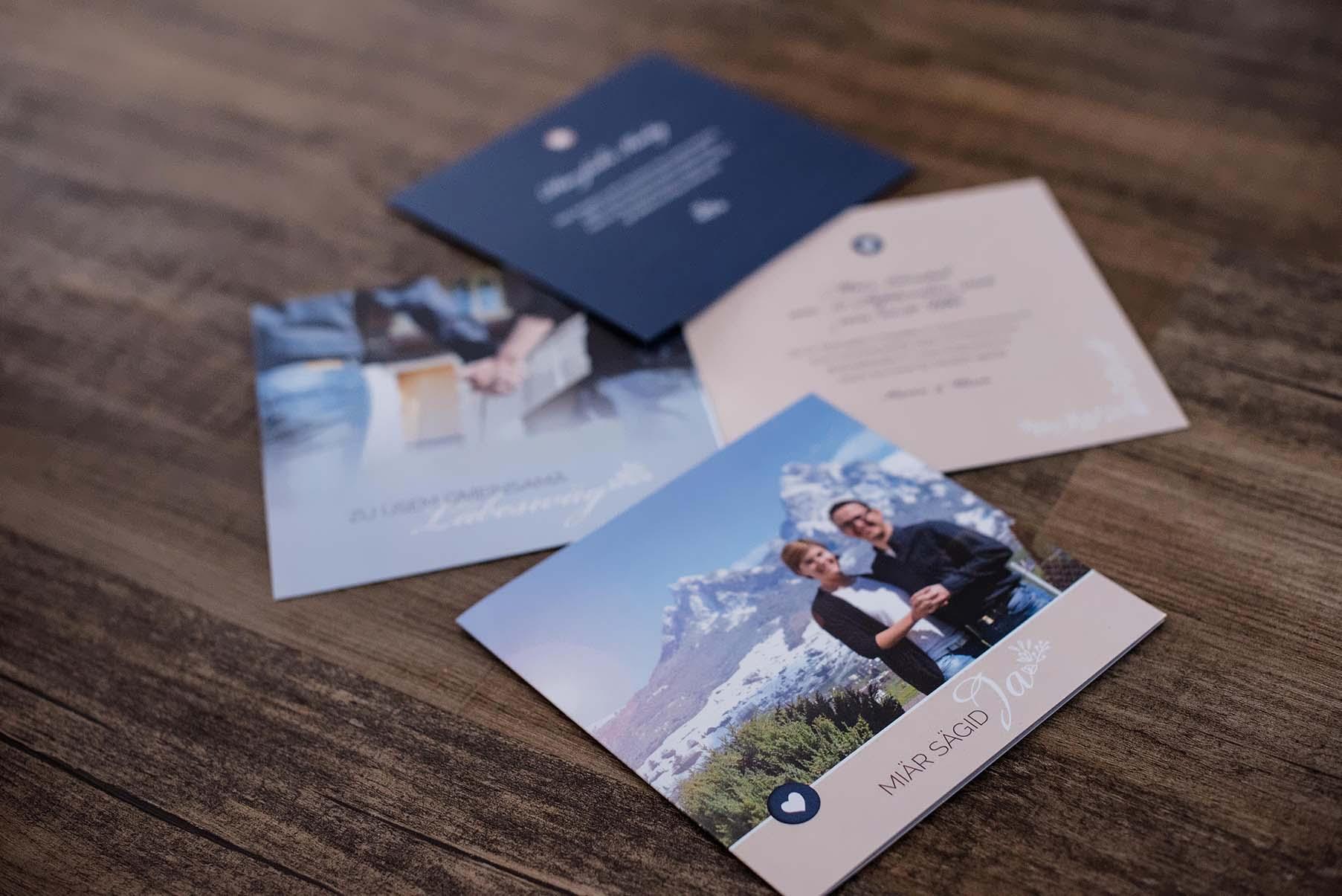 Hochzeitseinladung Betschart