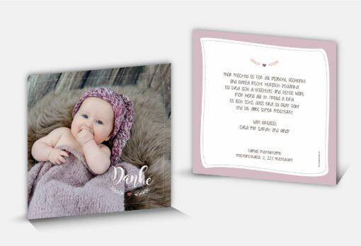 Geburtsdankeskarte Svea