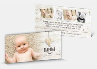 Geburtsdankeskarte Aaron