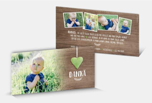 Geburtsdankeskarte Sandrin