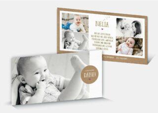Geburtsdankeskarte Nelia