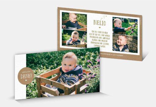 Geburtsdankeskarte Nelio