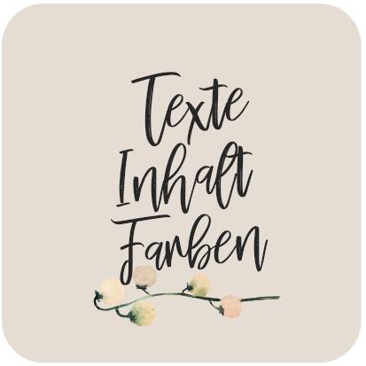 Text Inhat und Farben