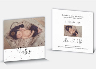 Geburtskarte Fabio